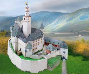 Puzzle  Schreiber-Bogen-753 Kartonmodelbau: Schloss Marksburg