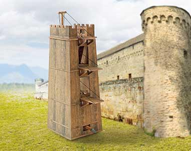 Puzzle  Schreiber-Bogen-759 Kartonmodelbau: Römischer Belagerungsturm