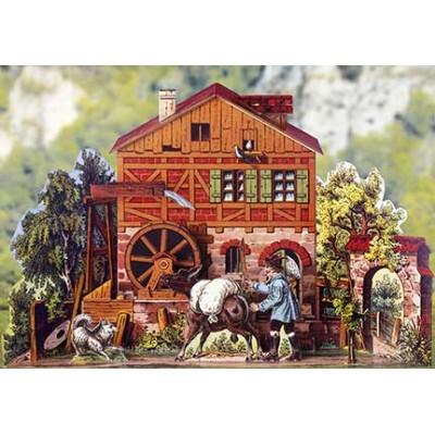 Puzzle  Schreiber-Bogen-769 Kartonmodelbau: Romantische Wassermühle