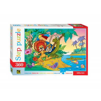 Puzzle  Step-Puzzle-73006 The Lion and the Turtle