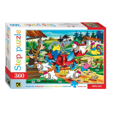 Puzzle  Step-Puzzle-73010 Crazy Tractor