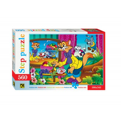 Puzzle  Step-Puzzle-78034 Leopold the Cat