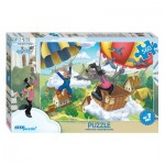 Puzzle  Step-Puzzle-78089 The Rabbit and the Wolf