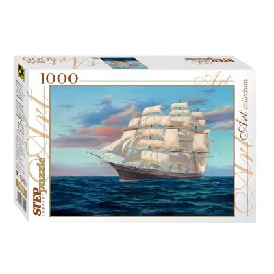 Puzzle Step-Puzzle-79096 Segelschiff