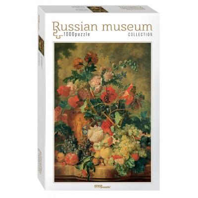 Puzzle Step-Puzzle-79210 Russian Museum - Jan van Huysum. Flowers and Fruit
