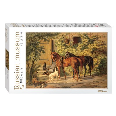 Puzzle Step-Puzzle-79214 Russian Museum - Adam Albrecht. Horses at the Porch