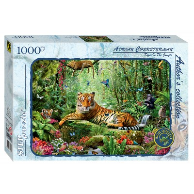 Puzzle Step-Puzzle-79528 Tiger im Dschungel