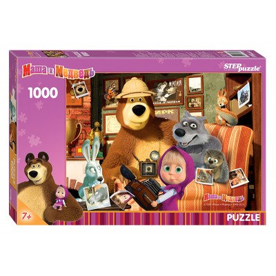 Puzzle  Step-Puzzle-79605 Masha and the Bear