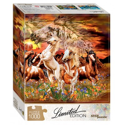 Puzzle  Step-Puzzle-79802 Finde 12 Pferde!