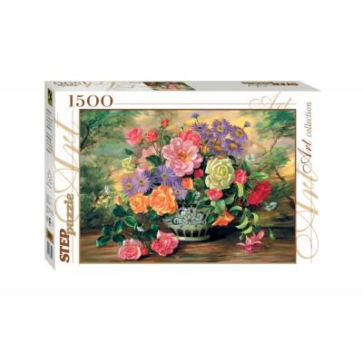 Puzzle  Step-Puzzle-83019 Blumen in einer Vase