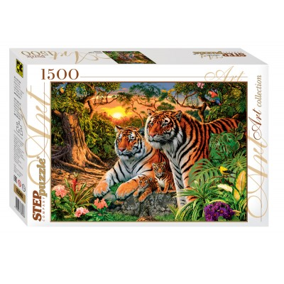 Puzzle Step-Puzzle-83048 Wie viele Tiger?