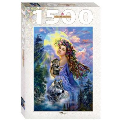 Puzzle Step-Puzzle-83061 Frauen und Wölfe