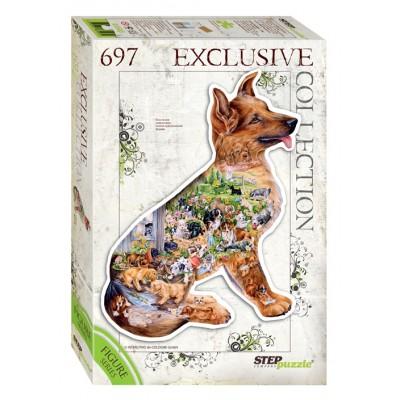 Puzzle  Step-Puzzle-83503 Hund