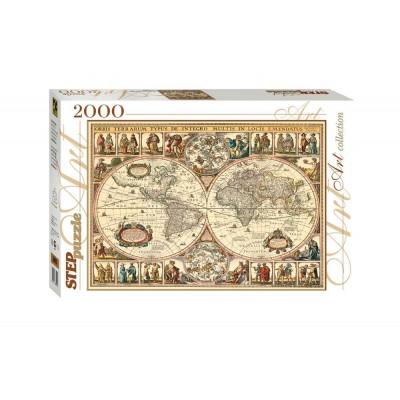 Puzzle Step-Puzzle-84003 Antike Weltkarte