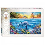 Puzzle  Step-Puzzle-84032 Dolphin Paradise