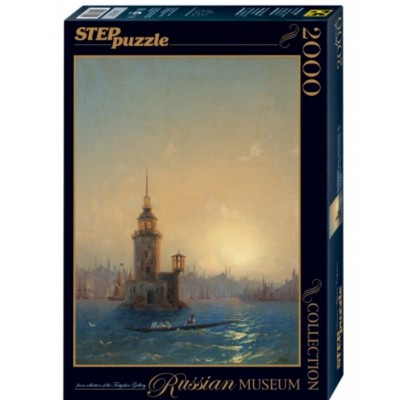 Puzzle Step-Puzzle-84202 Russian Museum - Ivan Aivazovsky - View of Leandrovsk tower in Constantinople