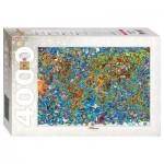 Puzzle  Step-Puzzle-85407 Weltkarte
