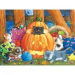 Puzzle  Sunsout-12540 Ashley Davis - Halloween Surprise