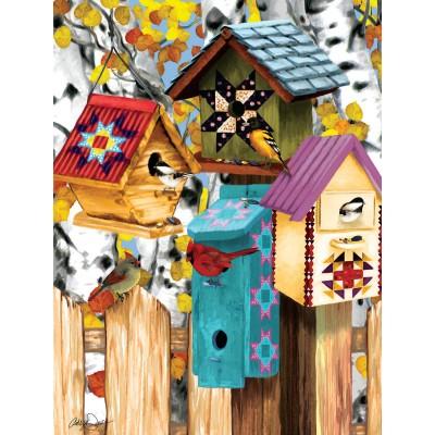 Puzzle  Sunsout-12554 Ashley Davis - Fall Birdhouses