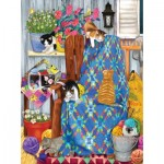 Puzzle  Sunsout-12562 Ashley Davis - Porch Kittens