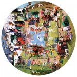 Puzzle  Sunsout-13335 Kevin Walsh - Four Seasons on the Green