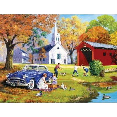Puzzle Sunsout-13735 XXL Teile - Family Time by the River