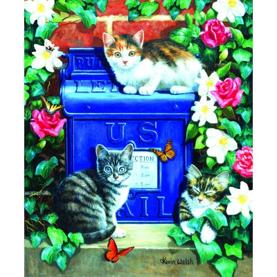 Puzzle  Sunsout-13801 Mail Box Kittens