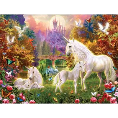 Puzzle  Sunsout-15960 XXL Teile - Castle Unicorns