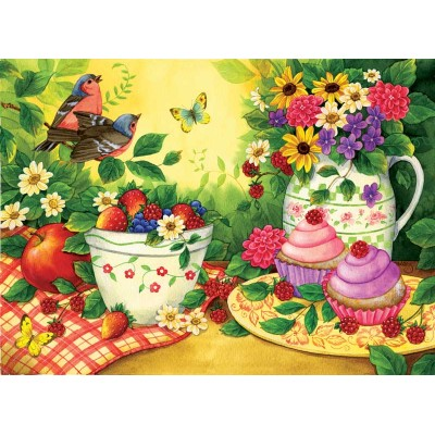 Puzzle  Sunsout-16024 Art by Jane Maday - Cupcakes for 2