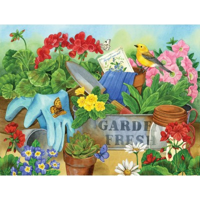 Puzzle  Sunsout-16062 Jane Maday - Gardener's Table