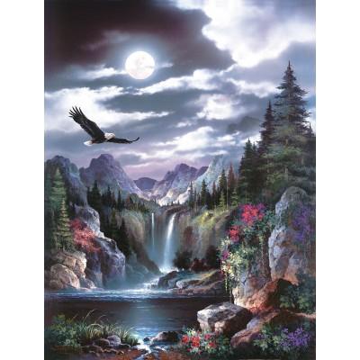 Puzzle  Sunsout-18005 XXL Teile - James Lee - Moonlit Eagle