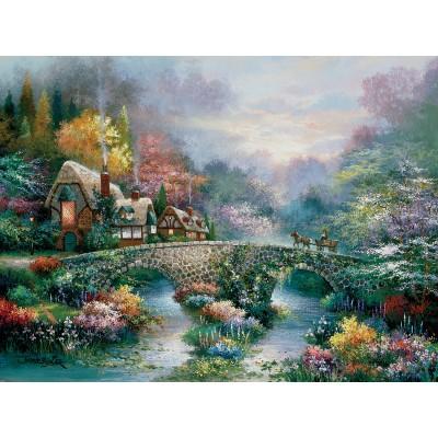 Puzzle  Sunsout-18030 James Lee - Peaceful Cottage