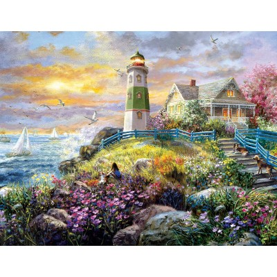 Puzzle  Sunsout-19309 Nicky Boehme - A Lighthouse Memory