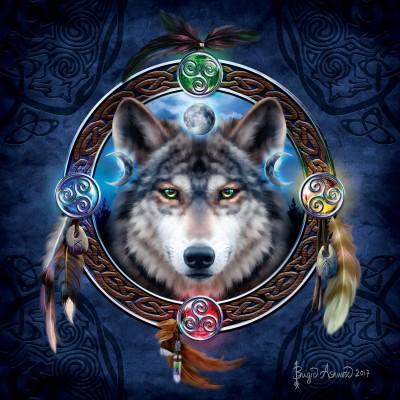 Puzzle Sunsout-20106 Brigid Ashwood - Celtic Wolf Guide
