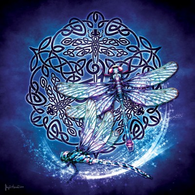 Puzzle  Sunsout-20109 Brigid Ashwood - Celtic Dragonfly