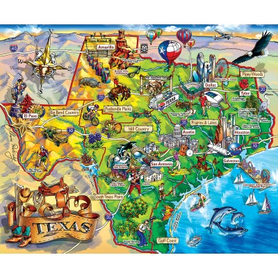 Puzzle  Sunsout-20516 Maria Rabinky - Texas!!!