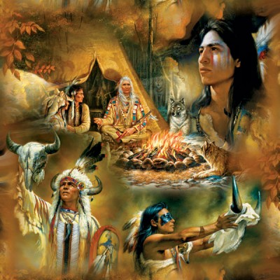 Puzzle  Sunsout-21827 Russ Docken - Native American Dreams