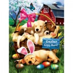 Puzzle  Sunsout-23012 XXL Teile - Tom Wood - Sleepy Eyed Easter Egg Hunters