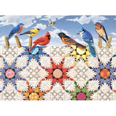 Puzzle  Sunsout-24210 XXL Teile - Feathered Stars