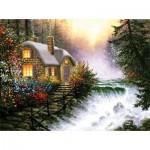 Puzzle  Sunsout-26140 Derk Hansen - River's Edge