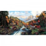Puzzle  Sunsout-26213 XXL Teile - Autumn Run