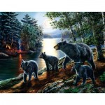 Puzzle  Sunsout-28368 XXL Teile - James Meger - Bear Moon