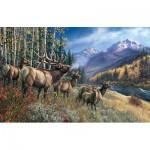 Puzzle  Sunsout-28448 James Meger - Elk Anthem