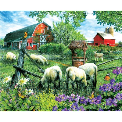 Puzzle  Sunsout-28566 Tom Wood - Pleasant Valley Sheep Farm
