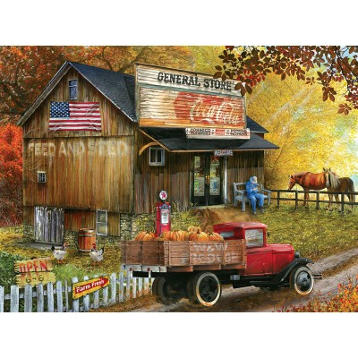 Puzzle  Sunsout-28649 Tom Wood - Seed and Feed  General Store
