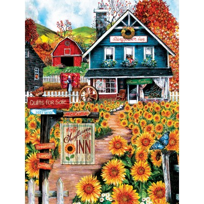 Puzzle  Sunsout-28715 XXL Teile - Welcome to the Sunflower Inn