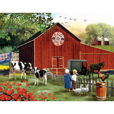 Puzzle  Sunsout-28727 XXL Teile - Tom Wood - Serenity in the Country