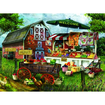 Puzzle  Sunsout-28773 Tom Wood - Fresh Country Produce