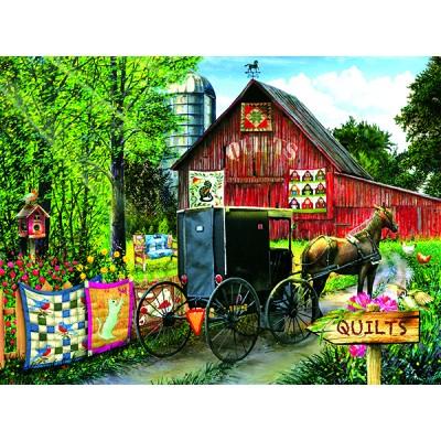 Puzzle  Sunsout-28822 Tom Wood - Amish Quilt Sale
