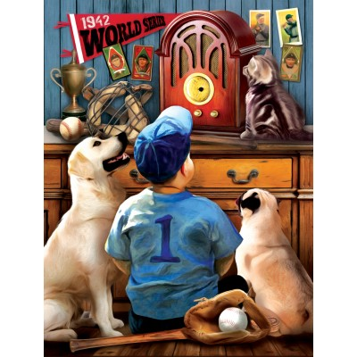 Puzzle  Sunsout-28853 XXL Teile - Tom Wood - Listening to the Game
